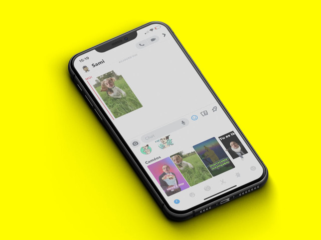 Snapchat concurrence Morphin avec Caméos