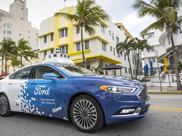 Deux Ford autonomes à Miami