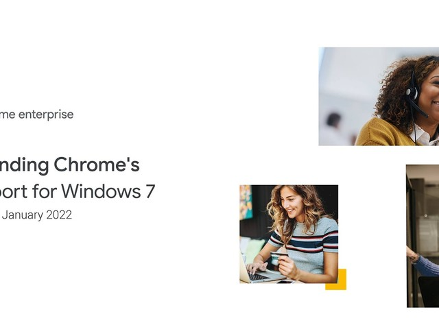 Google prolonge la prise en charge de Chrome sur Windows 7 jusqu'en janvier 2022