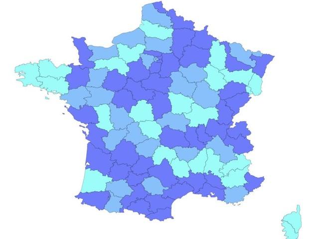 Coronavirus: notre carte de France pour suivre l'évolution du Covid-19 par département