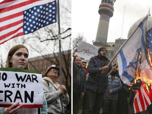"""Tensions USA-Iran EN DIRECT: l'Iran promet de ne frapper que les militaires américains pour """"un coup égal"""" à la mort de Soleimani"""