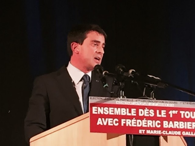 Valls à Audincourt pour son 1er meeting