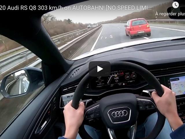 303 km/h en Audi RS Q8 sur autoroute