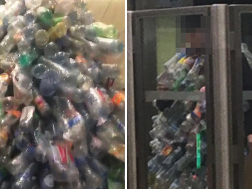 Grève mondiale pour le climat: vêtu de bouteilles en plastique, il ne passe pas inaperçu dans le métro à Bruxelles