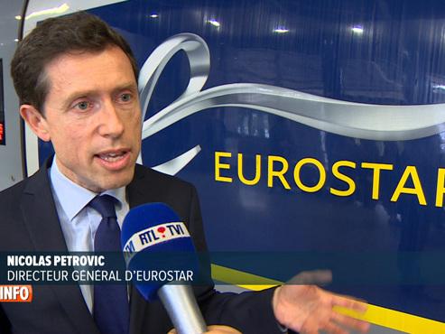 """Un nouvel Eurostar est arrivé pour la première fois à la gare de Bruxelles-midi: """"Le confort à bord est nettement meilleur"""""""
