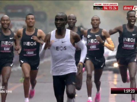Athlé - Marathon - Marathon : Eliud Kipchoge brise la barrière des 2 heures