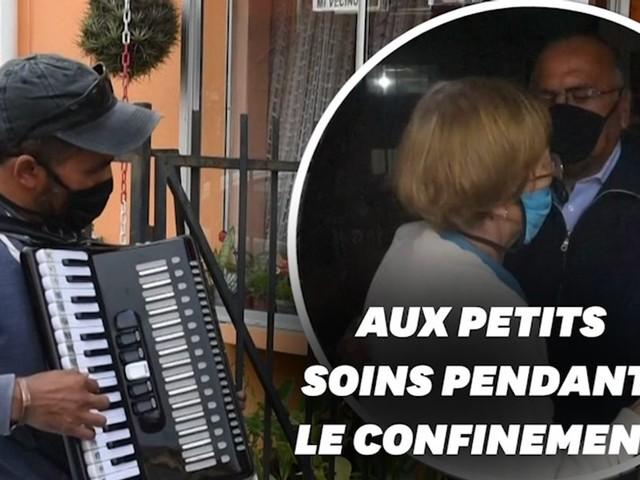 Coronavirus: au Chili, cet accordéoniste redonne le moral à ses parents confinés