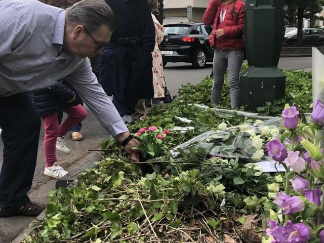Veillée de commémoration mardi soir pour la piétonne mortellement renversée par un conducteur ivre, à Anderlecht, le 10 mai