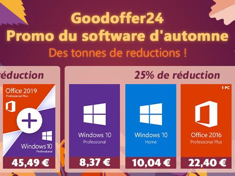 [#BonPlan] Windows 10 à 8,37€, Office 365 à 14,99€,…