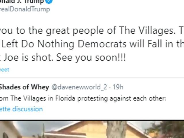 """Trump partage une vidéo où l'un de ses partisans crie """"White power"""""""