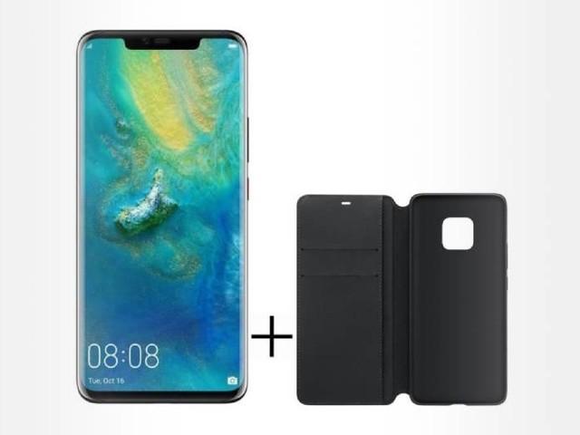 Huawei Mate 20 Pro noir + étui folio noir à 499€
