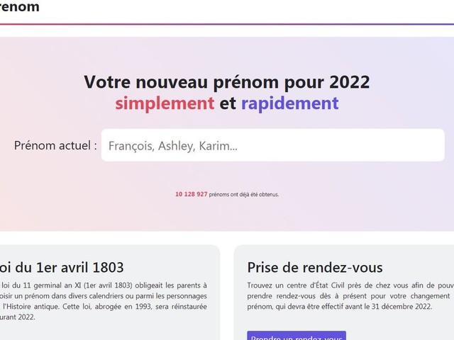"""""""Vite mon prénom"""": l'extrême droite derrière le site inspiré par Zemmour?"""