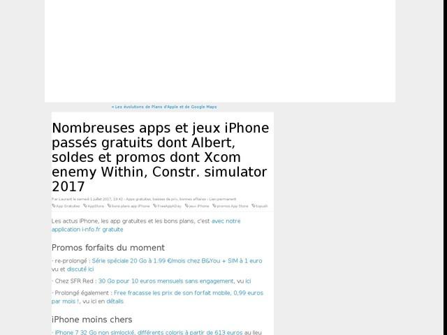 Nombreuses apps et jeux iPhone passés gratuits dont Albert, soldes et promos dont Xcom enemy Within, Constr. simulator 2017
