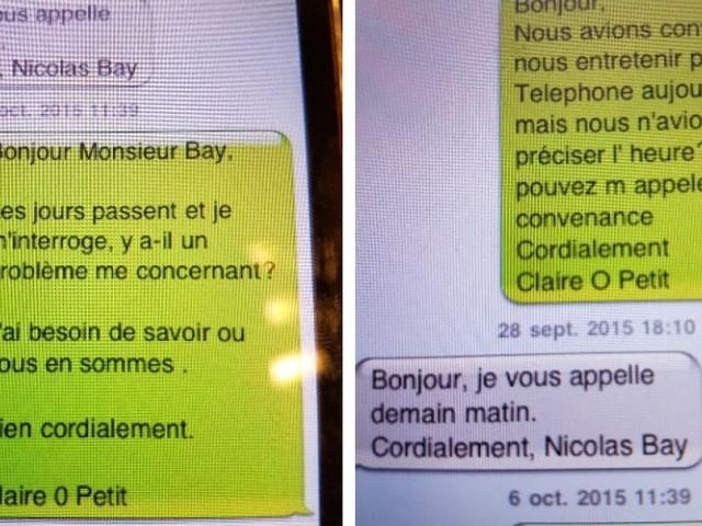 Les SMS publiés par Claire O'Petit suffiront-ils à lever les doutes sur ses liens passés avec le FN?