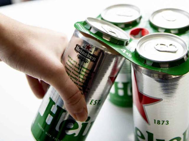 Gros investissement pour supprimer le plastique d'emballage par du carton chez Heineken UK