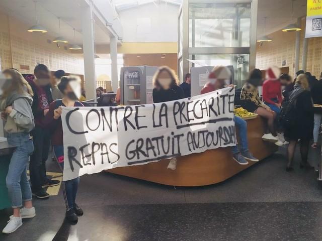 Rennes : une action cantine gratuite organisée à l'Université pour dénoncer la précarité étudiante