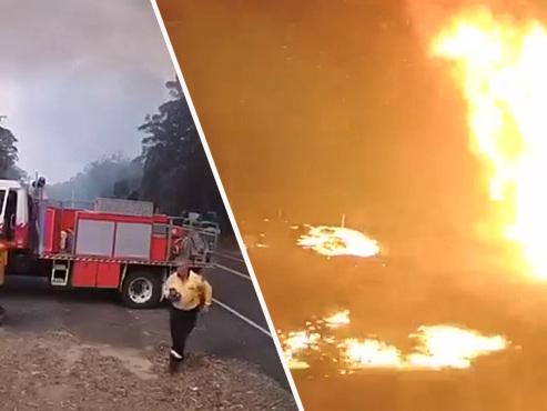 Images incroyables en Australie: en quelques secondes, ce paysage se retrouve plongé en enfer