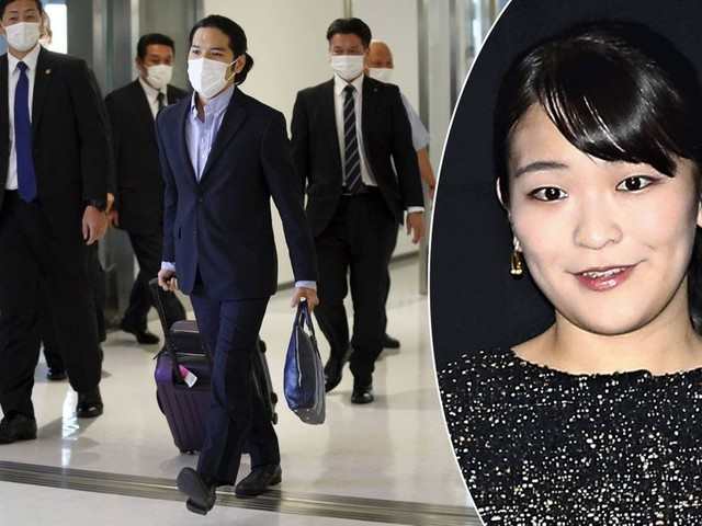 Mariage de la princesse Mako, son petit ami Kei Komuro est arrivé au Japon