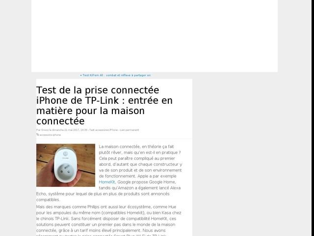 Test de la prise connectée iPhone de TP-Link : entrée en matière pour la maison connectée
