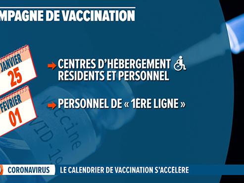 La vaccination s'accélère en Wallonie: voici le programme pour les prochaines semaines