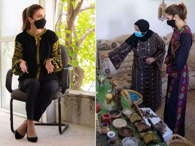 Rania opte pour des looks aux accents ethniques pour ses deux dernières sorties