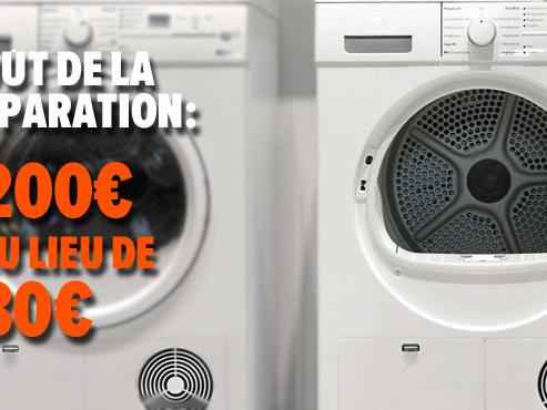 """Impossible de réparer soi-même certaines machines à laver: """"Les cuves sont thermo-soudées"""""""