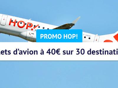Promo Hop! Air France : voyagez pour 40€ d'octobre 2018 à mars 2019