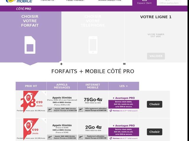 Forfait avec mobile pas cher - forfait mobile avec telephone : La poste mobile