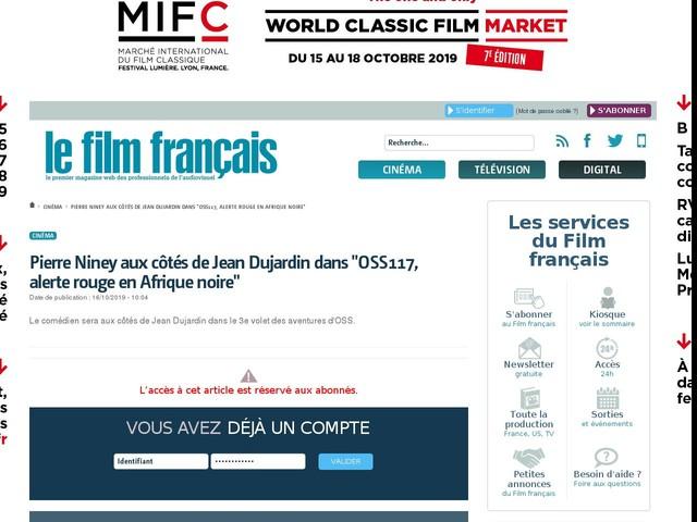"""Pierre Niney aux côtés de Jean Dujardin dans """"OSS117, alerte rouge en Afrique noire"""""""