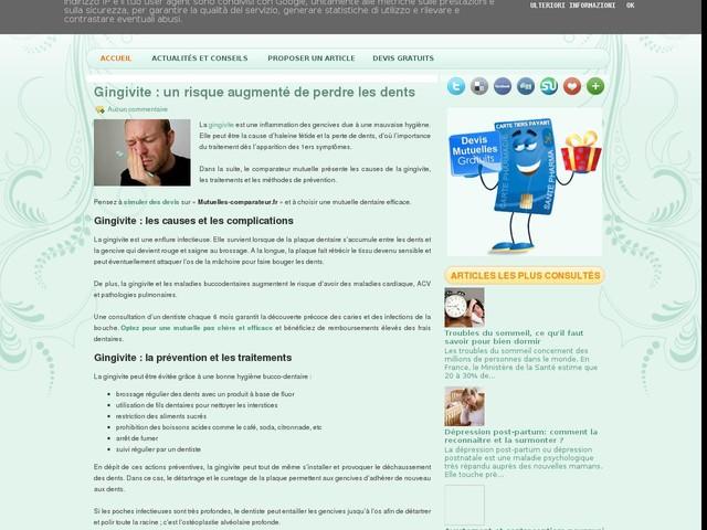 Gingivite : un risque augmenté de perdre les dents