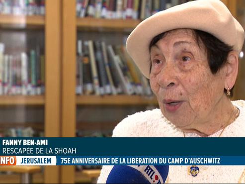75 ans de la libération d'Auschwitz: rescapée de la Shoah, Fanny s'inquiète de l'antisémitisme toujours présent