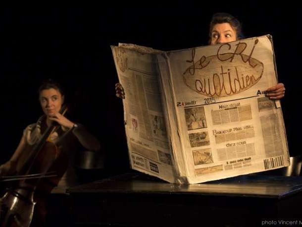 Avec «Le Cri quotidien», la marionnettiste Camille Trouvé manipule l'info sur papier journal
