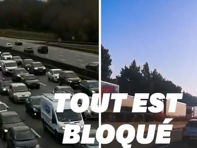 Les routiers se mobilisent entre blocages et opérations escargot