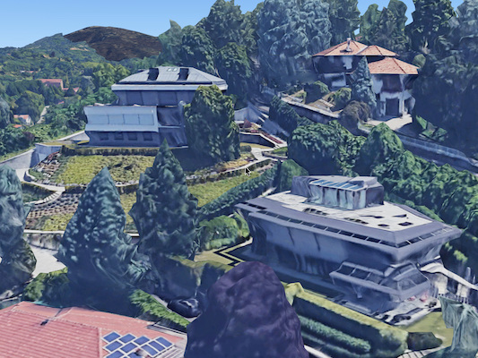Cristiano Ronaldo, sa (double) maison turinoise vue du ciel