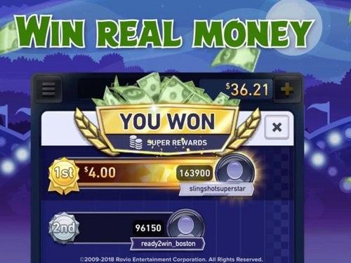 Angry Birds Champions permet de parier de l'argent