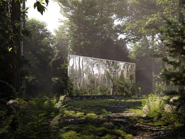 Arcana, les tiny houses invisibles cachées dans la forêt canadienne