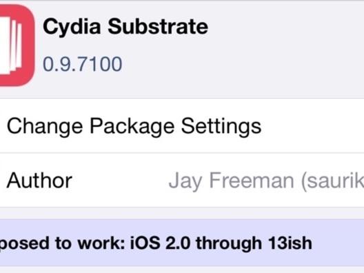 Saurik apporte une mise à jour importante pour Cydia substrate