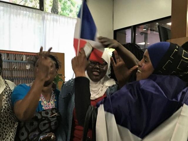 La victoire des Bleus vue d'un centre d'hébergement pour migrants