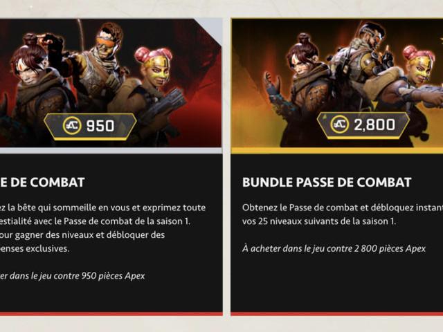 Apex Legends: le premier Passe de combat est officiel (et on sent que son prix va vous énerver)