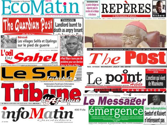 Les journaux camerounais s'émeuvent de la crise sécuritaire, politique et économique