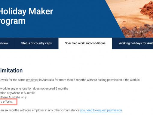 Évolution du PVT Australie (emploi) suite aux incendies de 2019-2020