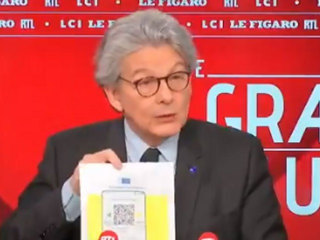 """Le """"certificat sanitaire"""" de l'UE dévoilé par Thierry Breton"""