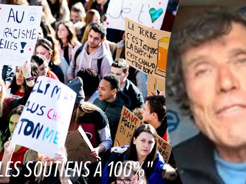 """""""Ce qui se passe dans la rue, c'est absolument extraordinaire"""": Alain Hubert félicite les jeunes qui marchent pour le climat (vidéo)"""