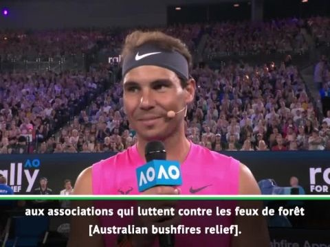 Tennis - Open d'Australie - Rafael Nadal et Roger Federer font un don de 250 000 dollars australiens aux associations qui luttent contre les incendies