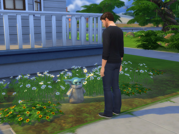 Bébé Yoda fait son entrée officielle dans les Sims 4