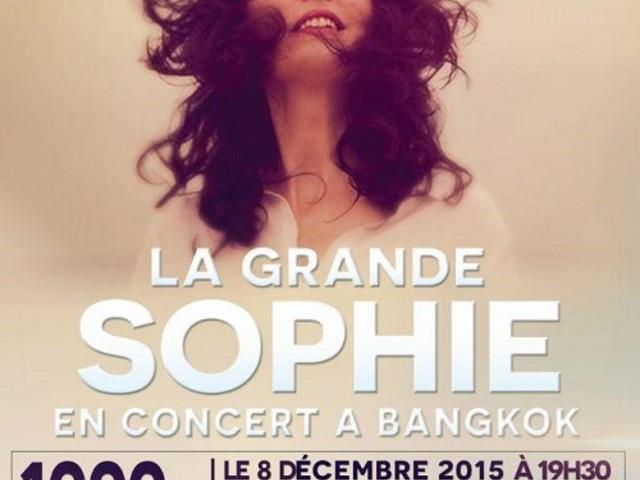 Concert de La Grande Sophie à Bangkok