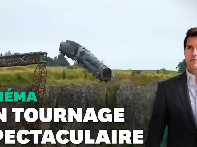 """""""Mission Impossible 7"""": un train jeté à toute vitesse d'une falaise lors du tournage"""