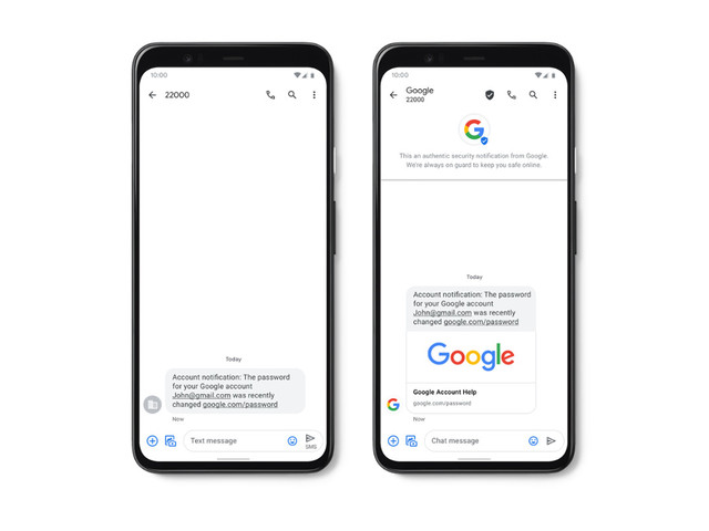 Google ajoute une protection contre les SMS et le spam à l'application Messages