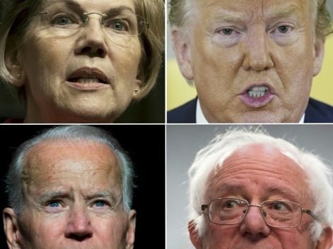 Un trio de septuagénaires en haut de l'affiche démocrate pour la présidentielle 2020
