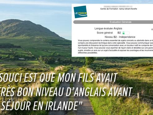 """La bourse du fils de Valérie réduite de 1.000€ après un séjour linguistique en Irlande: """"Ce ne sont pas des vacances"""" répond le Forem"""